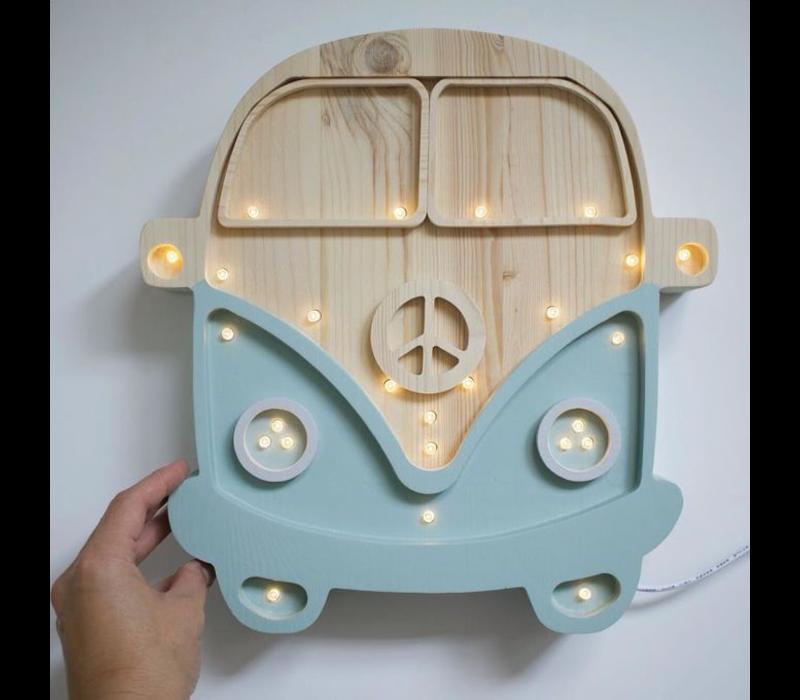 Little Lights lamp Van Retro Blue Wood