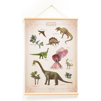 Little & Pure School Plate With the 50 x 70 dinosaurs
