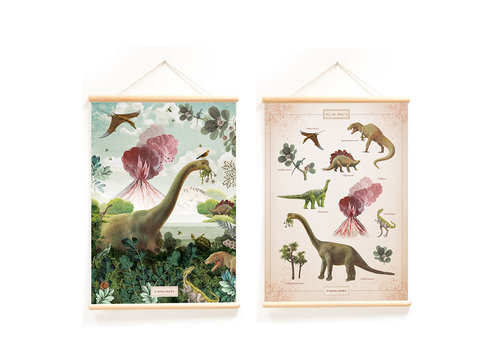 Little & Pure Talkboards Dinos 50 x 70 - Copy - Copy