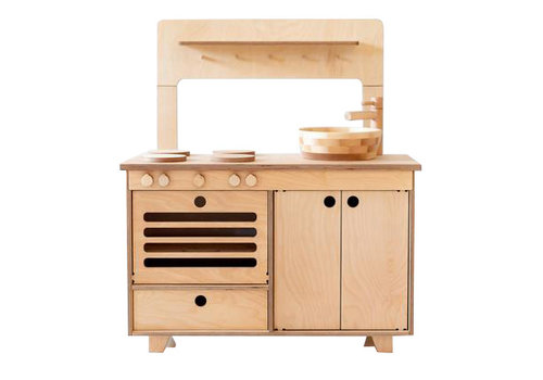 Midmini toy kitchen natural