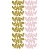 Pom le Bonhomme muurstickers hartjes goud roze  onregelmatig
