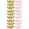 Pom le Bonhomme wall stickers hearts gold pink irregular