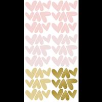 Pom le Bonhomme muurstickers hartjes roze mix onregelmatig