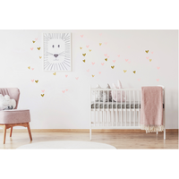 Pom le Bonhomme wall stickers hearts pink mix irregularly