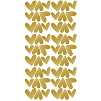 Pom le Bonhomme wall stickers hearts gold irregular
