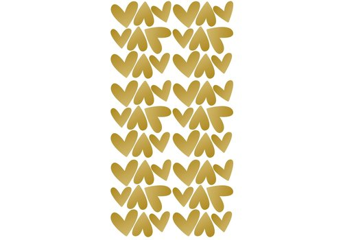 Pom le Bonhomme muurstickers hartjes goud onregelmatig