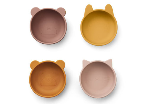 Liewood iggy silicone bowls 4 pack rose mix
