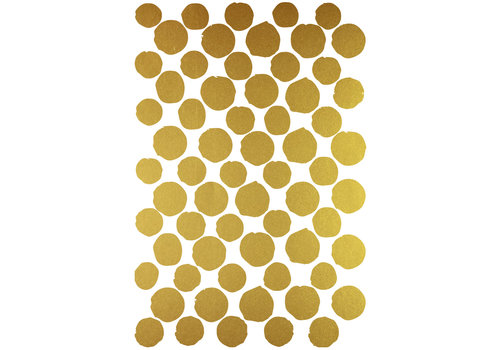 Mrs. Strawberry wall stickers paint dots gold