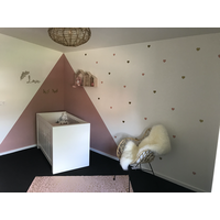 Pom le Bonhomme 72 wall stickers hearts gold pink