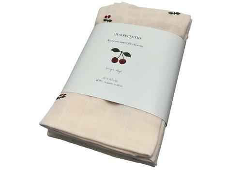 Konges Sløjd hydrofiele doeken cherry 3 pack 65x65