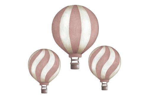 Stickstay rosa Vintage Luftballons gesetzt