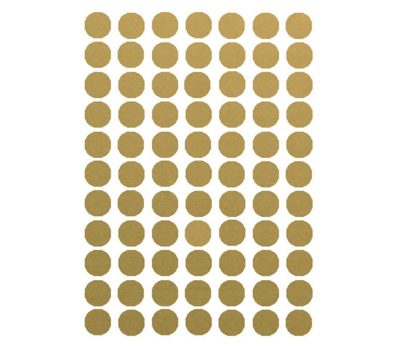 Mevrouw Aardbei 77 muurstickers cirkel goud 2 cm