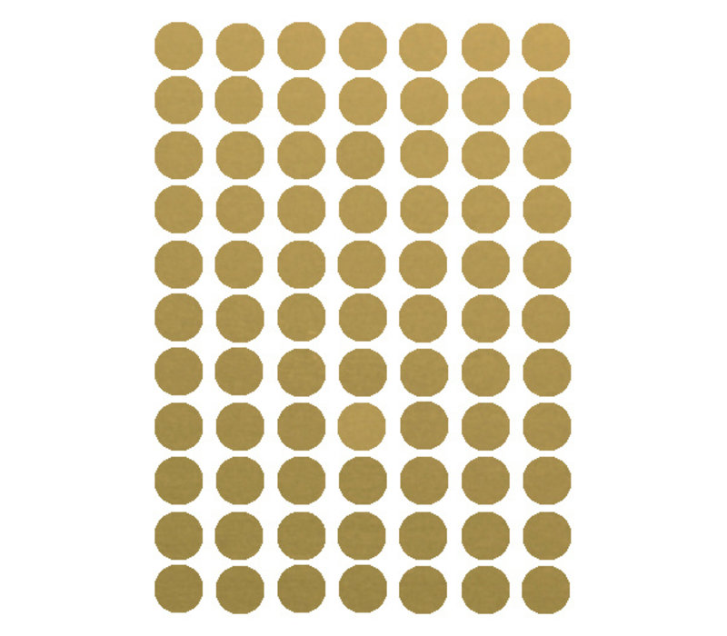 Mrs. Strawberry 77 wall stickers circle gold 2 cm