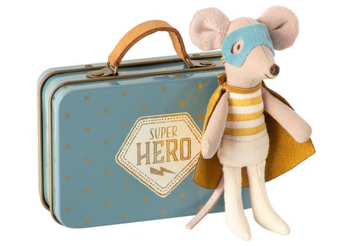 Maileg superhero mouse with case