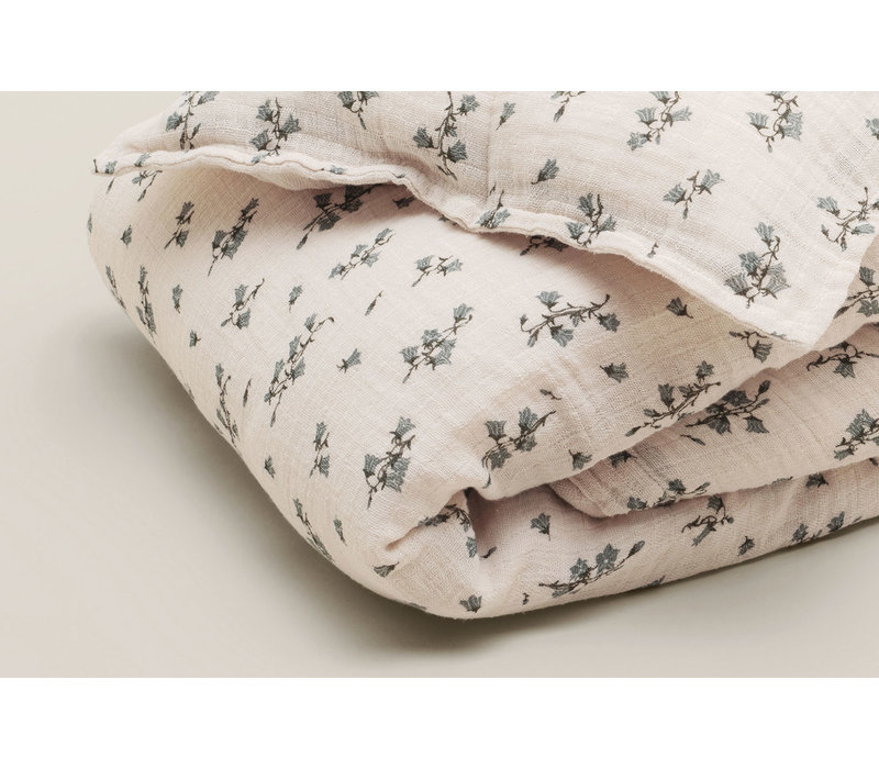 Garbo & Friends changing pad cover Muslin Bluebell