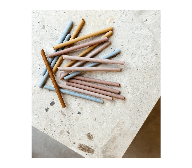 Liewood Zoe straws blue multi mix - 8 pack