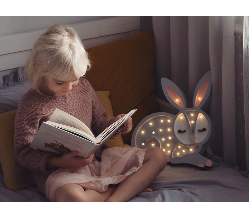 Little Lights lamp bunny light grey