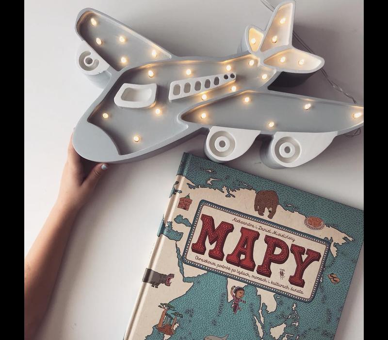 Little Lights lamp plane grey