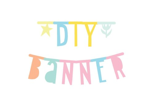 A Little Lovely Company letter banner pastel