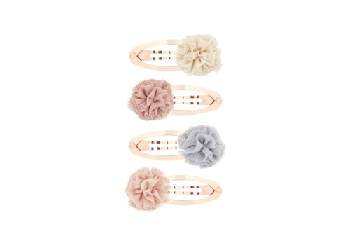 Mimi & Lula hair clips Ballerina with pom poms, 4 pack