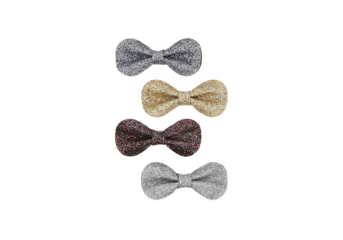 Mimi & Lula hair clips Glitter gracies bows, 4 pack
