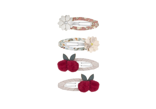 Mimi & Lula hair clips Cherries with flowers and cherries, 4 pack