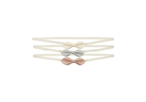Mimi & Lula haarbandjes Gracie Bow Metallic met strik, 3 pack