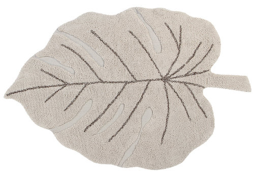 Lorena Canals washable rug Monstera leave natural 120 x 180