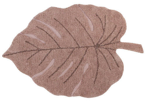 Lorena Canals washable rug Monstera vintage nude 120 x 180