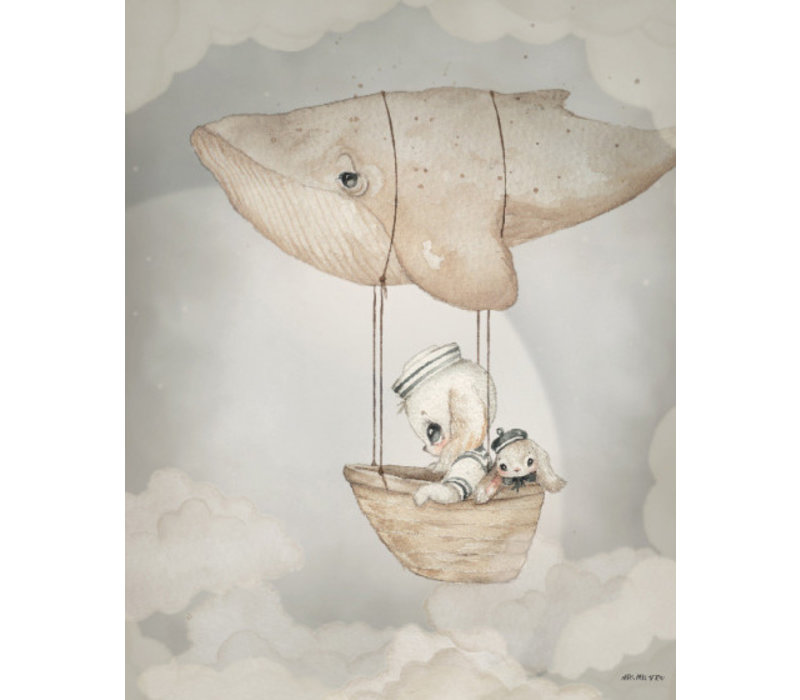 Mrs. Mighetto poster Flying Whale 40 x 50