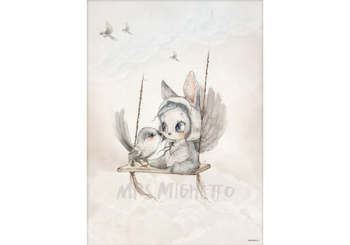 Mrs. Mighetto poster Mini bird master 50 x 70