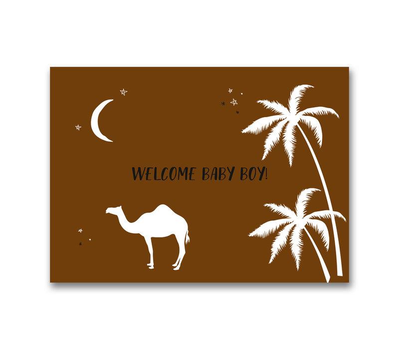 Mevrouw Aardbei ansichtkaart Welcome Baby Boy!
