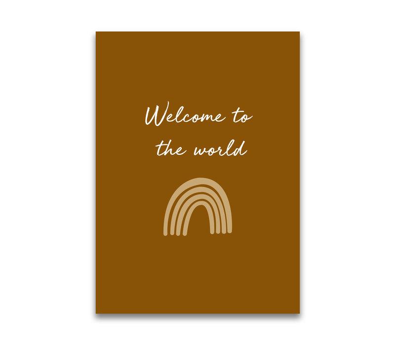 Mrs. Strawberry Postkarte Willkommen in der Welt