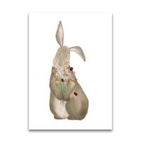 Gezeichnet von Schwester Postkarte Kaninchen