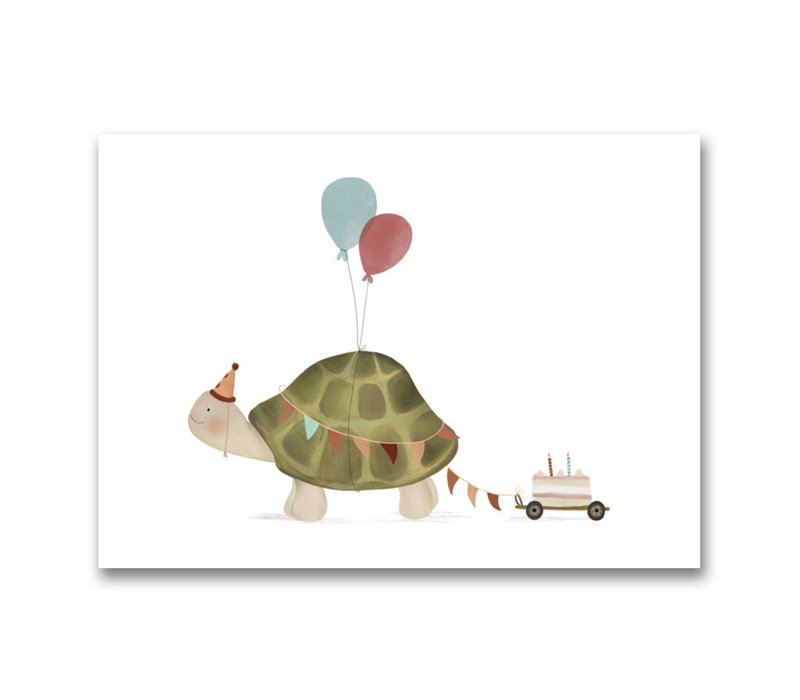 Drawn by sister postcard Turtle