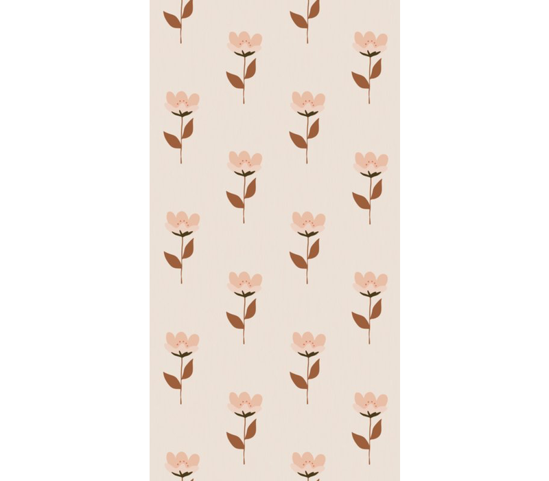 Bibelotte wallpaper retro flower pink