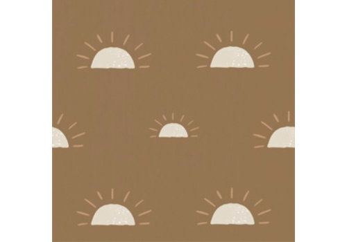 "Bibelotte wallpaper ""Dawn"", mustard"