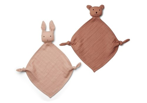 Liewood Yoko mini cuddle cloth rose mix 2 pack