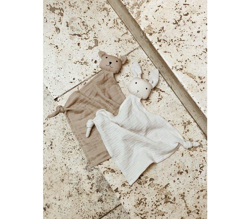 Liewood Yoko mini knuffeldoekje sand/stone beige 2 pack