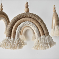 Cotton Design mobiel Regenboog Beige