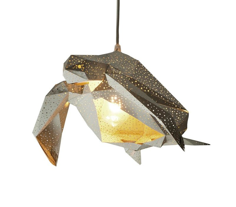 Vasili Lights paper DIY hanging lamp turtle - gray