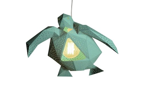 Vasili Lights paper DIY hanging lamp turtle - green
