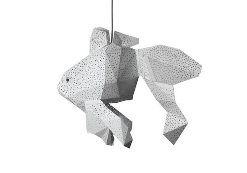 Vasili Lights paper DIY hanging lamp fish - white