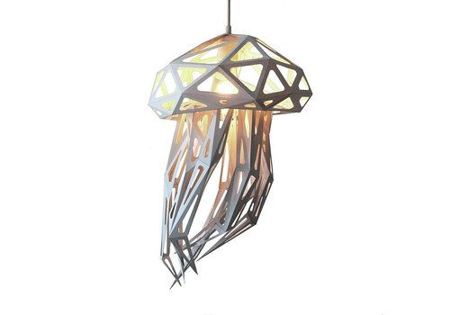 Vasili Lights paper DIY hanging lamp jellyfish - white