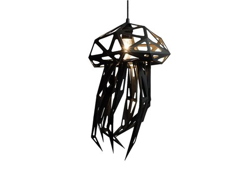 Vasili Lights paper DIY hanging lamp jellyfish - black