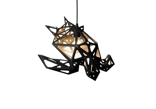 Vasili Lights paper DIY hanging lamp turtle black
