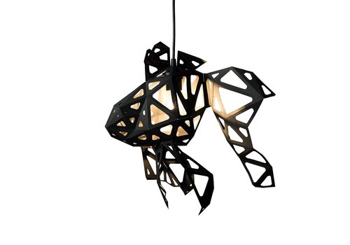 Vasili Lights paper DIY hanging lamp fish black