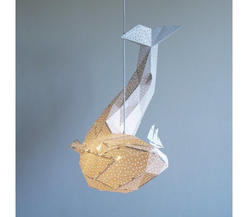 Vasili Lights hanging lamp whale - white