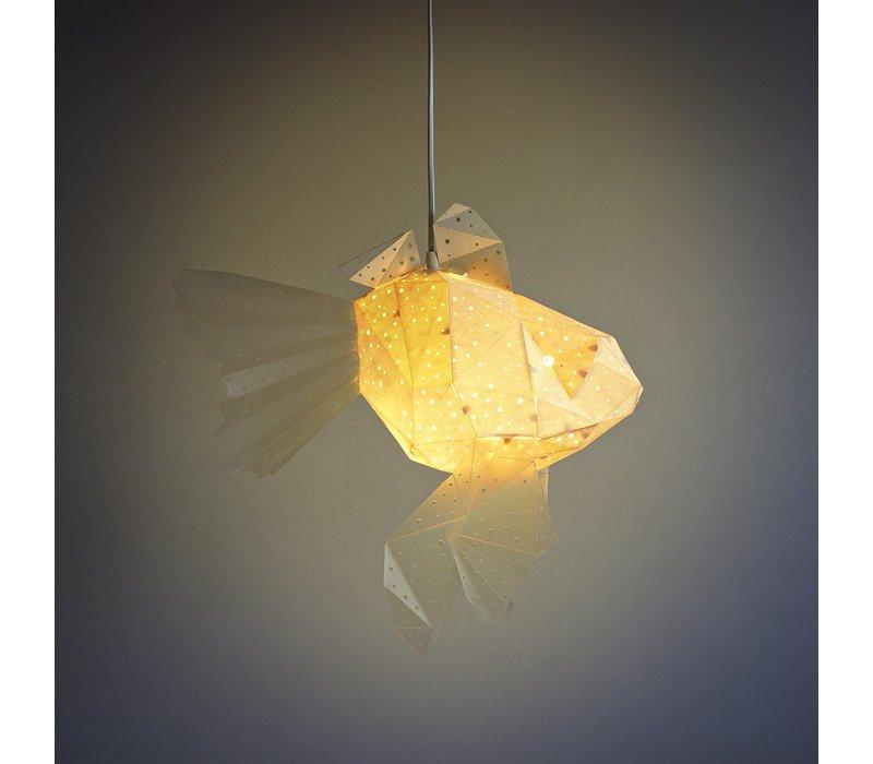 Vasili Lights Origiami hanglamp baby goudvis - wit