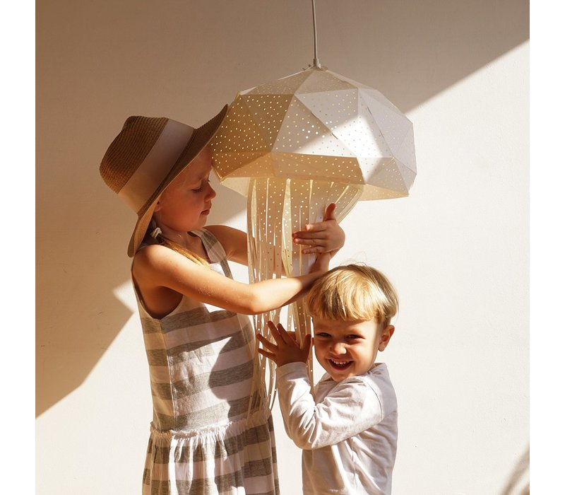 Vasili Lights Origami hanging lamp large jellyfish - white